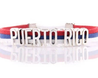 Puerto Rico Adjustable Wrap Bracelet