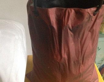 "Brown Paperbag 9"" Ceramic Vase with handles"