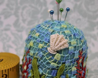IN STOCK - Mermaid's Pincushion Large Bottlecap Pincushion free usa ship