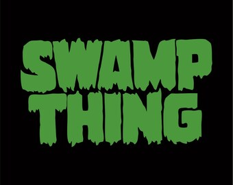 Swamp Thing Sticker / Vinyl Decal - Choose Size & Color