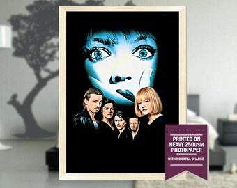 Scream, fanart, scream poster, scream movie print, scream movie, scream movie art, scream art, best posters, cool prints, cool art, 1996