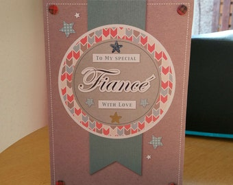 Fiance Birthday Card - luxury quality bespoke UK handmade