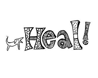 Heal / Get Well Card Blank Inside
