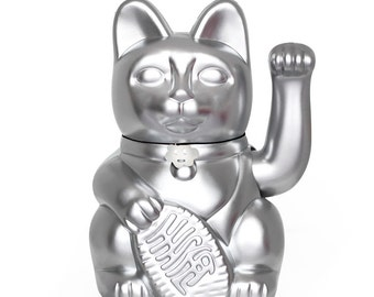 """Lucky Cat """"Gatete"""" is the stylish and fluor-ish version of the classic lucky cat (3 sizes L-M-S)  Colour: silver"""