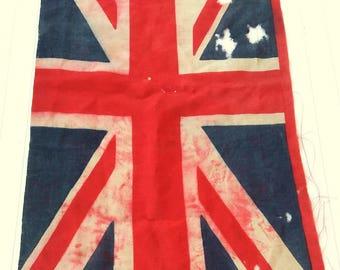Antique Union Jack Flag. Bandeira Britânica antiga.