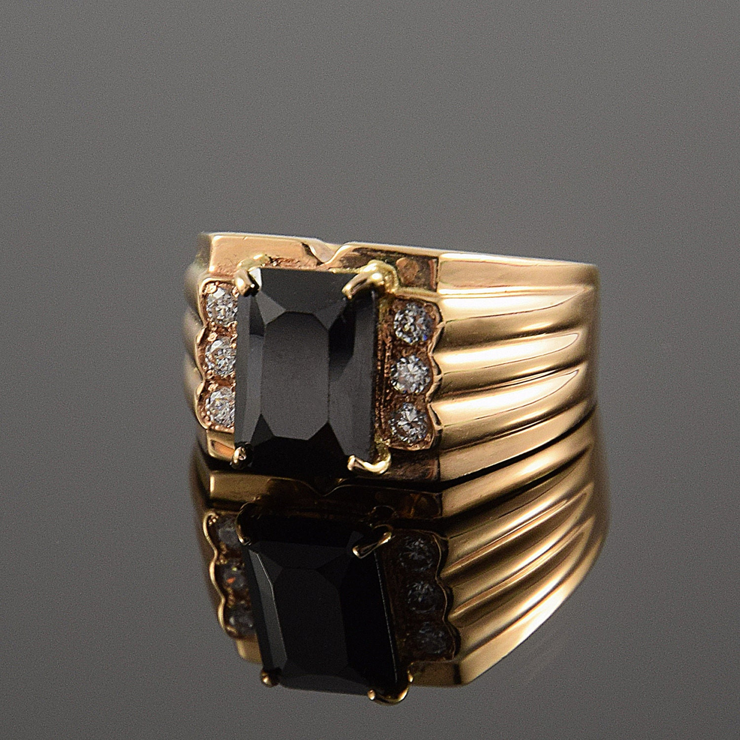 gucci jewelry diamantissima in ring normal product gallery s silver sterling lyst metallic mens men black rings wide