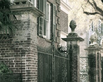 Travel Photography - Charleston Of The Past - Architectural, S. Carolina, Southern, Iron Gate, Romantic, City Street, Fine Art Photography