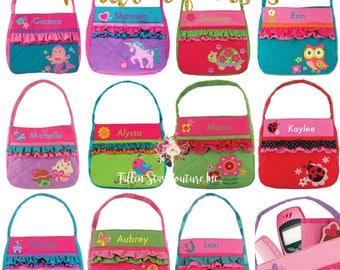 Toddler purse , dress up , girls pocket book , toy bag , preschool bag , stephen personalized kids bag