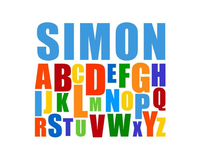 Printable Baby Name Alphabet Design