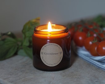 Greenhouse Scented Soy Wax Candle in Mini 120ml Amber Jar