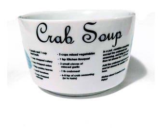 Crab Soup Recipe Mug