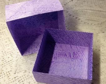 Origami Masu Paste Paper Box-Lilac