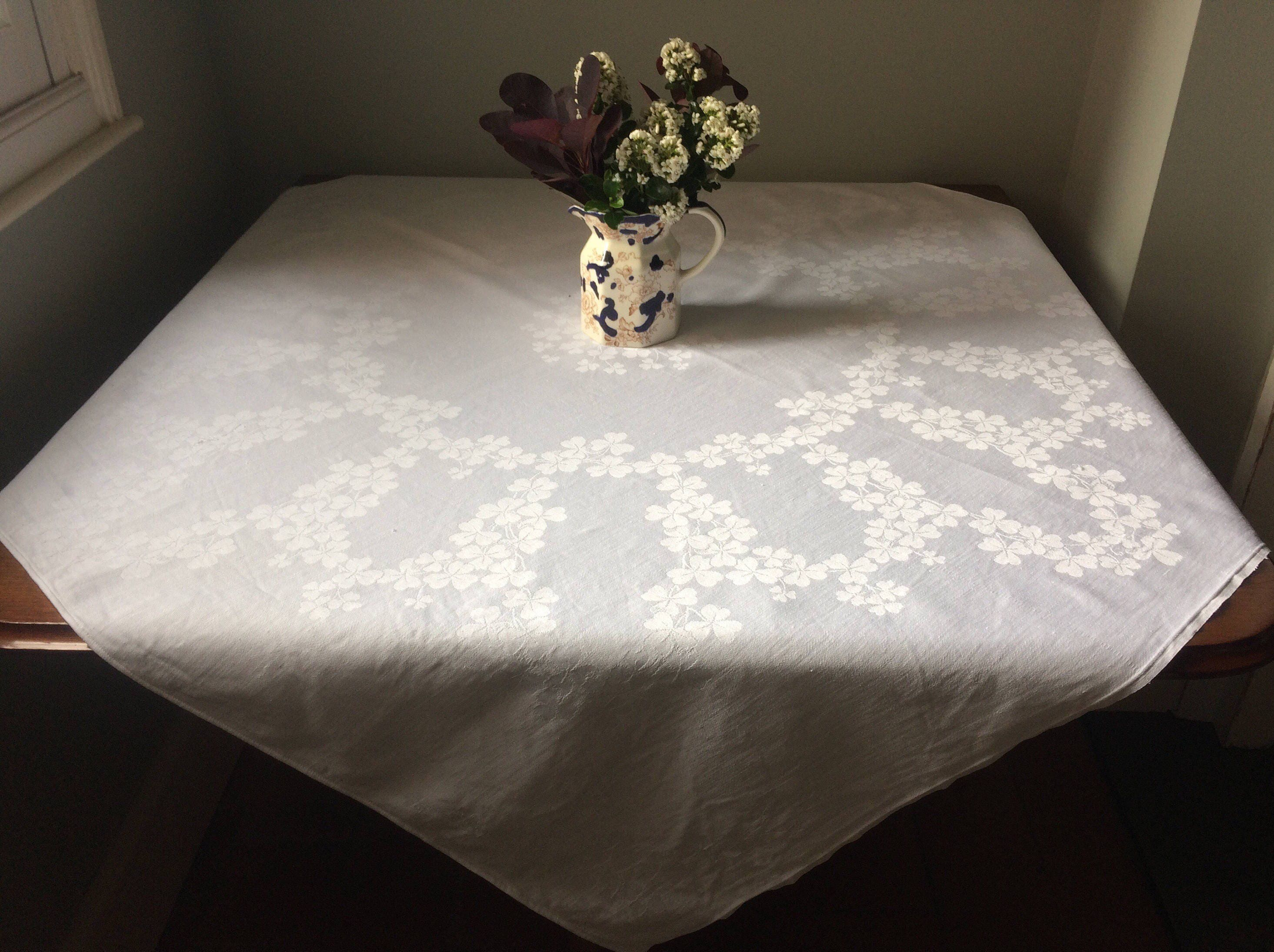 Vintage Damask Tablecloth Vintage Table Linen English