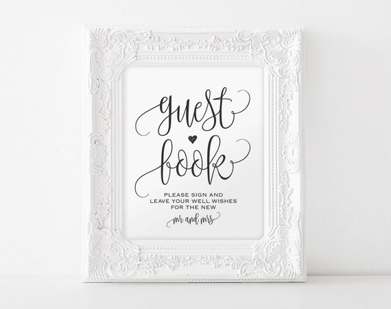 guest sign in book template