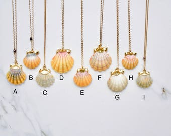 Gold-dipped Hawaiian Sunrise Shell Necklace