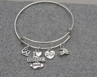 Football Mom Gift -Football Mom Bracelet – Football Mom Gift - Perfect for Football Moms, & Team Gifts