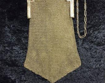 Antique Vintage Whiting & Davis Soldered Metal Mesh Purse circa1900