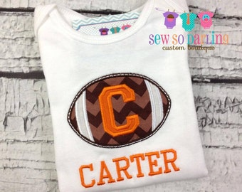 Baby football outfit - Baby Football Shirt - personalized baby outfit - baby gift for boys - Orange football team shirt - Texas Football