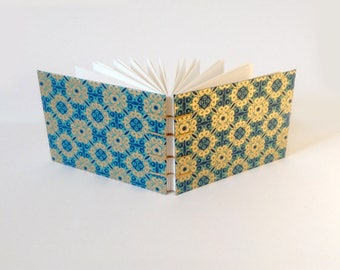 Blue and Gold A6 Coptic Watercolour Sketchbook