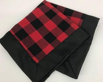 Lovie, Lumberjack Lovie, Red Plaid Lovie, Baby Boy Shower Gift, Personalized Lovie ,Shower Gift, Baby Security Blanket
