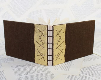 Brown and Gold Hardcover Notebook