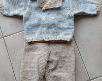 made baby Cardigan and d d set overalls