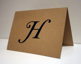 Personalized Stationery -- The Initial Cards - CHOOSE your QUANTITY