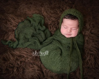 Evergreen RTS Stretchy Soft Newborn Knit Wraps 80 colors to choose from, photography prop newborn prop wrap