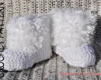 CROCHET PATTERN - Furry Baby Booties