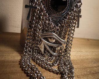 """Silver cuff Egyptian chains """"Queen of the Damned"""""""