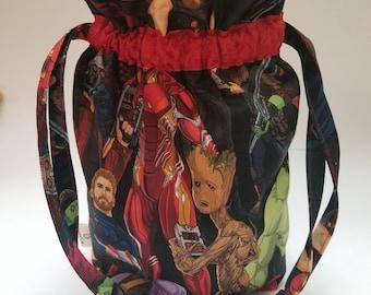 Small Avengers Infinity War Drawstring Project Bag
