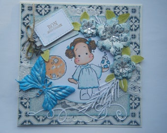 Kit and tutorial cardmaking for card with a star wars Princess