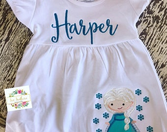 Frozen inspired dress with name