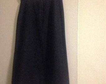 Vintage Ellen Tracy Black Wool Skirt
