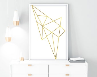 geometric art, prints, PRINTABLE, abstract print, low poly, wall art, printable, art prints, modern, gift for her, minimalist, wall decor