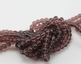 1 strand of approximately 80 beads glass Burgundy 4mm for creation