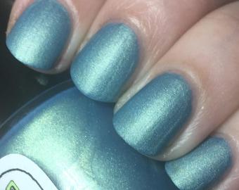 Rules of Acquisition Nail Polish - matte brilliant metallic blue-green
