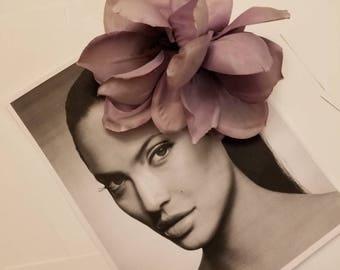 Lavender Purple Orchid Hair Flower Wedding Hair Accessories Pin Up Rockabilly