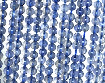 5mm-6mm Bermudan Blue Iolite Gemstone Grade AAA Round Loose Beads 16 inch Full Strand (90182394-110)