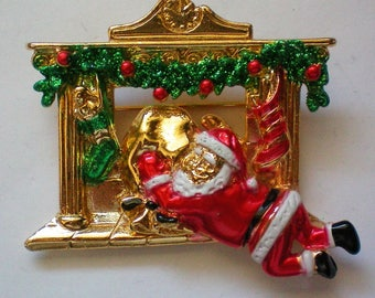 AJC Christmas Santa Pin - 5639
