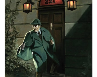 """Sherlock Holmes 'The Game's Afoot' 11"""" x 17"""" Print"""