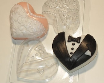 Bride and groom - plastic soap mold soap making soap mould molds soap mold