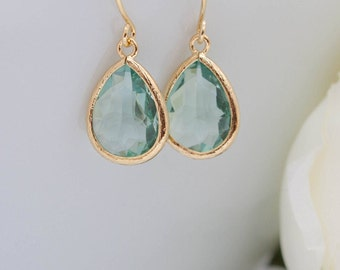 Earrings Gold-plated drops