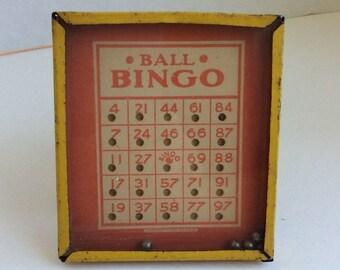 Vintage Ball Bingo Dexterity Game