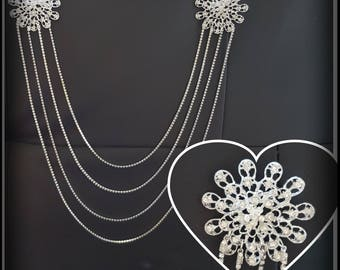 Back Drape/ backpiece /backdrop necklace/ back beads / back chain / diamante shoulder jewellery / dress jewellery/ back necklace