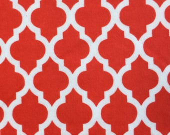 Rice, Flax Seed, Microwave heat Pack, Lower back Heating pad, back, Hot Cold Pack, Back Heat Therapy - Red White Quatrefoil Flannel Fabric