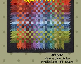 """OVER and Down Under Flannel Quilt KIT - by Bonnie Sullivan for Maywood Studios - Woolies Flannel - 56"""" Square - Jelly Roll Friendly"""