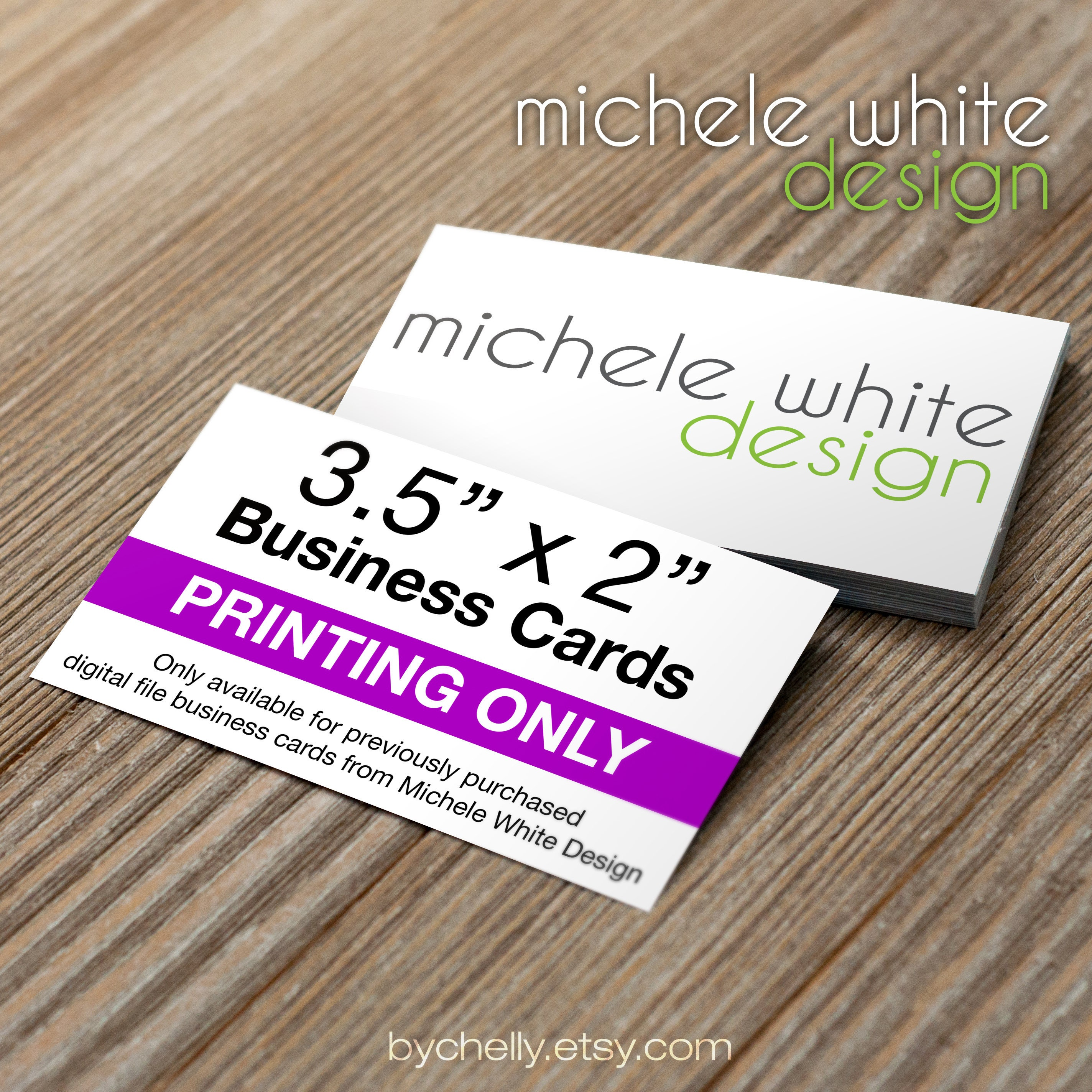 3.5x2 Business Card Printing Glossy Front & Back