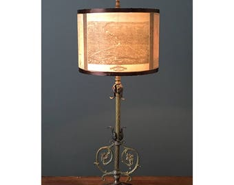 Drum Lamp Shade- Historic Map of Monroe County and Rochester, NY