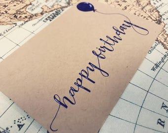 Handmade Birthday Card! Custom Calligraphy Card!